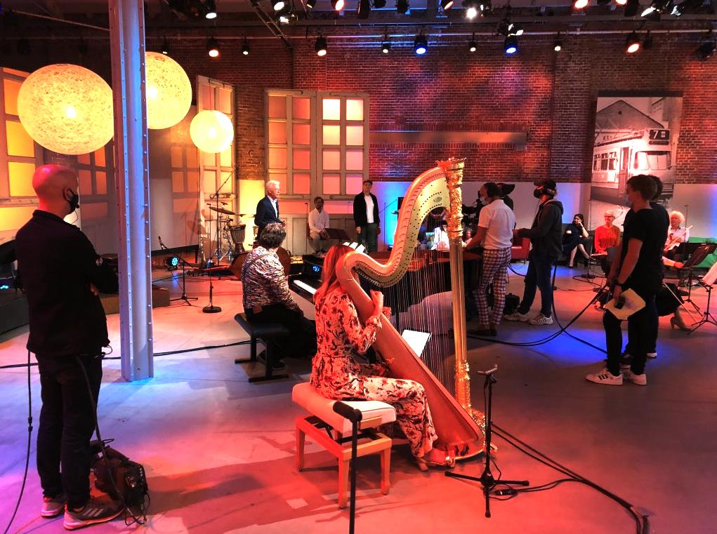 televisie opnames in de hallen studio's
